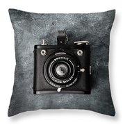 Old Box Camera Throw Pillow