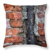 Old Brick Wall Abstract Throw Pillow