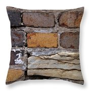Old Bricks Throw Pillow by Tim Good