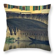 Ponte Vecchio Protection Throw Pillow