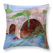 Old  Bridge In Ireland Throw Pillow
