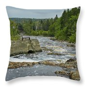 Old Bridge Infrastructure Throw Pillow