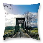An Old Railroad Bridge  Throw Pillow