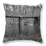 Old Brige In The Fall Throw Pillow