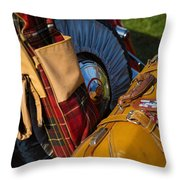 Old British Luggage Throw Pillow