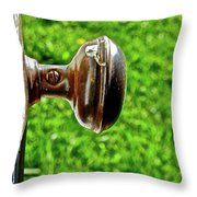 Old Brown Doorknob Throw Pillow
