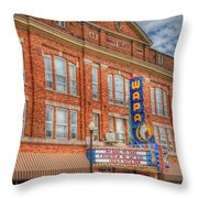 Old Brown Theater - Wapak Theater Throw Pillow