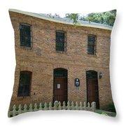 Old Brunswick County Jail Throw Pillow