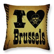 Old Brussels Throw Pillow