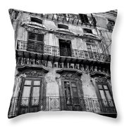 Old Building In Sicily Throw Pillow