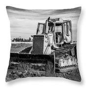 Old Bulldozer Throw Pillow