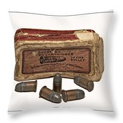 Old Bullets Throw Pillow