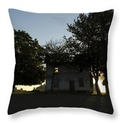 Old Burnt House Throw Pillow