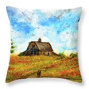Old But Stately -old Barn Artwork Throw Pillow by Lourry Legarde