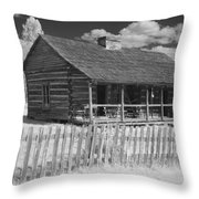 Old Cabin Ir Throw Pillow