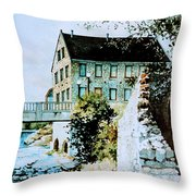 Old Cambridge Mill Throw Pillow