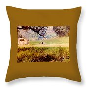 Old Cannon At Gettysburg Throw Pillow