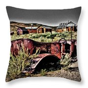 Old Car At Bodie Throw Pillow