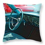 Old Car Interior Throw Pillow