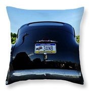 Old Car Trunk With Artistic Background Throw Pillow