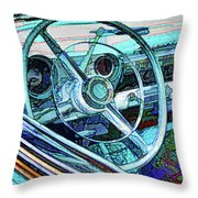 Old Car Wheel Throw Pillow