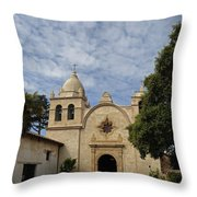 Old Carmel Mission Throw Pillow