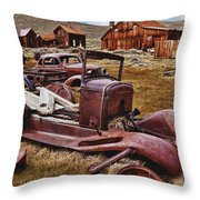 Old Cars Bodie Throw Pillow