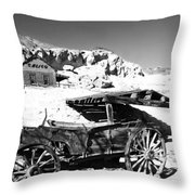 Old Cart Throw Pillow