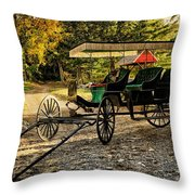 Old Cart - Old Movie Edition Throw Pillow