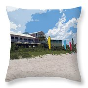 Old Casino On An Atlantic Ocean Beach In Florida Throw Pillow by Allan  Hughes