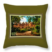 Old Castle - France H A With Decorative Ornate Printed  Frame  Throw Pillow