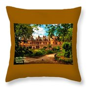 Old Castle - France H A Throw Pillow