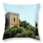 Old Castle In Hebron Throw Pillow