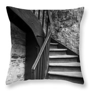Old Castle Stairway Throw Pillow