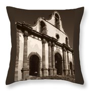 Old Catholic Mission Ghost Town Throw Pillow