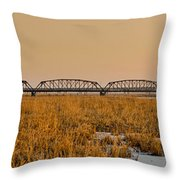 Old Cedar Road Bridge Throw Pillow