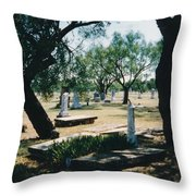 Old Cementery Throw Pillow