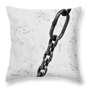 Old Chain Throw Pillow