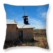 Old Chapel On Route 66 In Newkirk Nm Throw Pillow