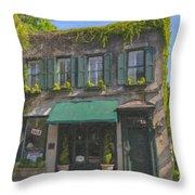Old Charleston Gardens On 61 Queen Street Throw Pillow