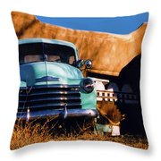 Old Chevrolet Throw Pillow