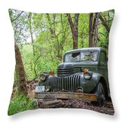 Old Chevy Oil Truck 1  Throw Pillow