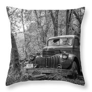 Old Chevy Oil Truck 2 Throw Pillow