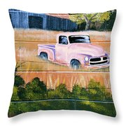 Old Chevy Truck Throw Pillow