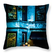 Old Chicago Inn Throw Pillow