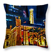 Old Chicago Pumping Station Throw Pillow by Michael Durst