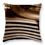 Old Chrysler Grille Throw Pillow
