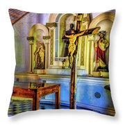 Old Church Altar Throw Pillow