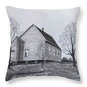 Old Church At Beatties  Ford Throw Pillow