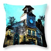 Old Church At Oxford Maryland Throw Pillow